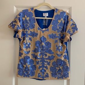 Neiman Marcus Tracy Reese Sequin Blouse